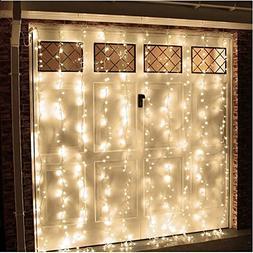 AGPtek® 3Mx3M 300 LED Warm White Linkable Design Fairy Curt