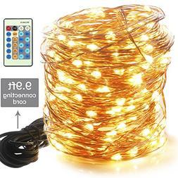 Moobibear LED Decorative Fairy String Lights 99ft 300 LEDs D
