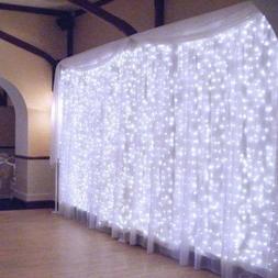 DLPIN 304LED Window Curtain Lights for Party Wedding Graden