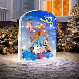 "32""Lighted Rudolph's Misfit Toy Screen Backdrop Collectible"