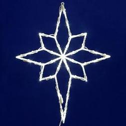 Vickerman 35 Lights LED Star of Bethlehem Window Decor, Whit