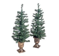 Holiday Time 3.5ft Twin Pre-Lit Artificial Christmas Trees w