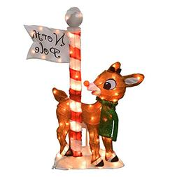 ProductWorks 36-Inch Holiday Décor Rudolph LED Pre-Lit 2D M