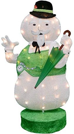 ProductWorks 36-Inch Rudolph 2D Pre-Lit Yard Art Sam The Sno