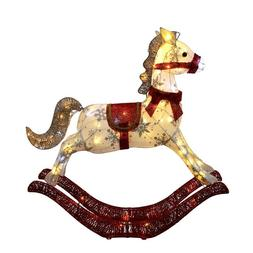 "36"" Lighted Rocking Horse Sculpture Christmas Yard Decor   F"