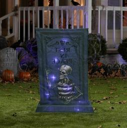 """36"""" Rest in Peace Light Up Tombstone Halloween Self-Inflatab"""