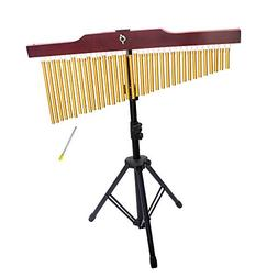 ammoon 36-Tone Golden Bar Chimes 36 Bars Single-row Wind Chi