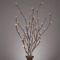 "39"" Brown Wrapped Willow Branches, with Timer, 2 Branches, a"