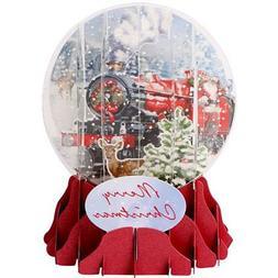 3D Pop Up Christmas Snow Globe - SANTA'S EXPRESS - #UP-WP-SG