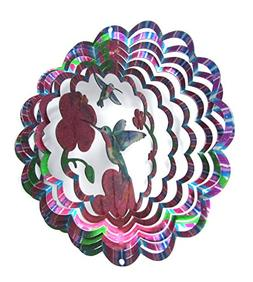 WorldaWhirl Whirligig 3D Wind Spinner Hand Painted Stainless