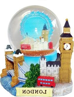 3D Snow Globe - London Collage, Detailing London Landmarks B