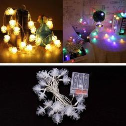 Behogar 3M 20-LED Battery Operated Pinecones String Lights f