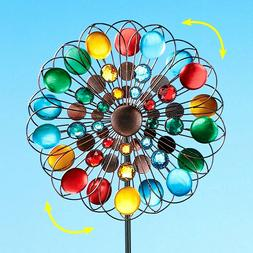 4 Ft. Colorful Spinner Double Sided Yard Garden Lawn Beaded