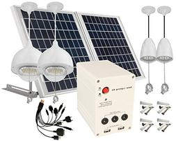 4 Lamps 25W Solar Pane Lithum Battery Solar Home System