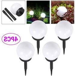 4 PCS Solar LED Ground Light Ball Lamp Waterproof Outdoor Ga