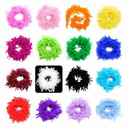 40-85 Gram 2 Yard 100% Natural Feather Boa Chandelle Costume