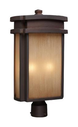 Elk 42144/2 2-Light Outdoor Post Light In Clay Bronze