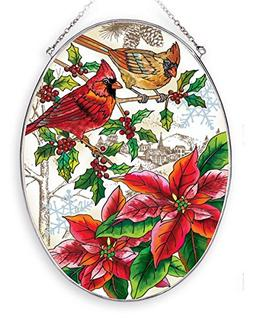 Amia 42404 Hand-Painted Glass Christmas Cardinals, Large Han