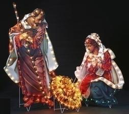 """48""""H 3 Pc Holy Family Yard Art 200 Lights In/Outdoor by Roma"""