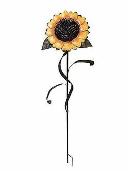 "48""Tall Large Sunflower Stake Metal Garden Yard Decor Lawn D"