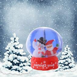 4Ft Airblown Inflatable Santa Christmas Gemmy SnowGlobe Deco