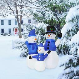 Kinbor 4FT Christmas Inflatable Snowman Family Airblown Yard