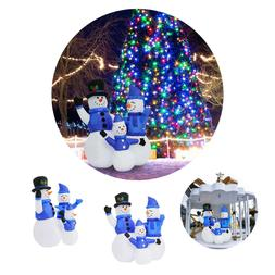 4Ft Christmas Inflatable Snowman Family Holiday Airblown Yar