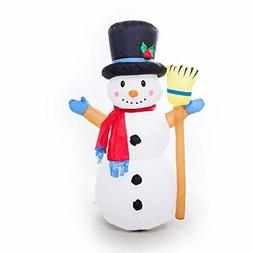 4ft Christmas Inflatables Colorful Kaleidoscope Snowman Airb