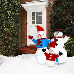 4Ft Snowman Family Christmas Inflatable Decoration Air Blown