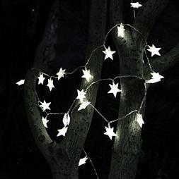 TINNZTES 4m/13ft 40 LED Star Light Fairy String Light for Ch