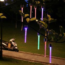 4Pcs LED Solar Garden Hanging Rechargeable Colorful Light Ga
