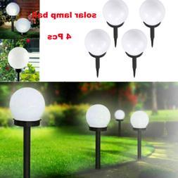 4Pcs Solar Power LED Ball Light Garden Lamp for Outdoor Yard