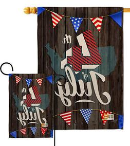 4Th Of July Fourth Usa Red White Blue America Map Garden Hou