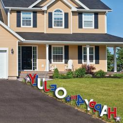 4th of July - Yard Sign Outdoor Lawn Decorations - Independe