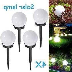 4X LED Solar Ground Light Ball Lamp Waterproof Outdoor Garde