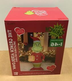 GEMMY GRINCH CHRISTMAS AIRBLOWN INFLATABLE BLOW UP LED YARD