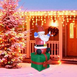 5.5ft Inflatable Christmas Santa Claus Airblown w/LED Outdoo