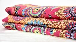 5 Yard Handmade Indian Cotton Fabric Decor Hippie Dressmakin