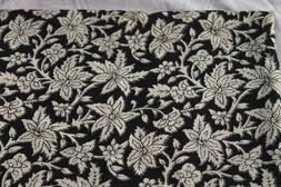 5 Yard Indian Cotton Running New Fabrics Hand Block Decor Pr