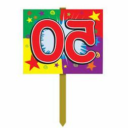 50 Birthday Yard Sign Party Accessory