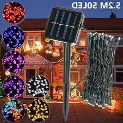 50 LED Solar Power String Fairy Light Xmas Party Outdoor Gar