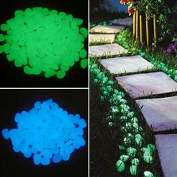 50Pcs Glow in the Dark Garden Pebbles Glow Stones Rocks for