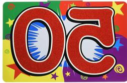 50TH BIRTHDAY SIGN FOR YARD OR PARTY WALL DECORATION