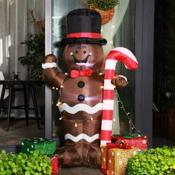 VIVOHOME 5ft Inflatable LED Gingerbread Man Christmas Airblo