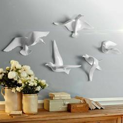 5Pcs/Set Resin Seagull Birds Bedroom TV Background Wall Art