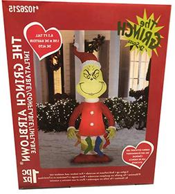 Gemmy 6.5 Ft Grinch with Stockings Airblown Lighted Christma