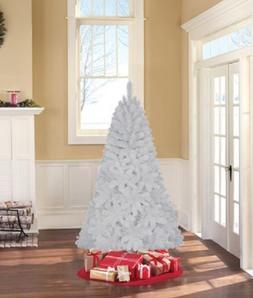 6.5'' Jackson Spruce Artificial Christmas Tree, White ~ Unli