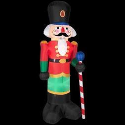 Gemmy Industries Airblown Nutcracker Christmas Decoration Mu