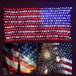 YULIANG 6.5ft×3.2ft Led Flag Net Lights of The United State