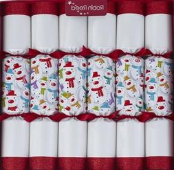"6 X 13""  Racing Snowmen Christmas Crackers By Robin Reed"